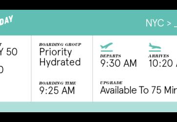 Hydration Ticket